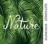 beautiful floral summer pattern ... | Shutterstock .eps vector #1056011255