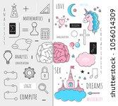 "vector infographics ""the left...   Shutterstock .eps vector #1056014309"