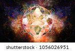 abstract hipster geometric... | Shutterstock . vector #1056026951
