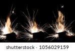 lighter ignition close up sparks | Shutterstock . vector #1056029159