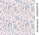 flower pattern seamless in... | Shutterstock .eps vector #1056029279