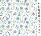 flower pattern seamless in... | Shutterstock .eps vector #1056029315