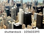 high rise buildings at downtown ... | Shutterstock . vector #105603395