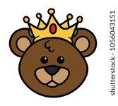cartoon king bear   Shutterstock .eps vector #1056043151