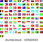 world flags | Shutterstock .eps vector #10560433