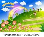 abstract vector background | Shutterstock .eps vector #105604391