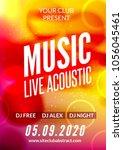 live music acoustic poster... | Shutterstock .eps vector #1056045461