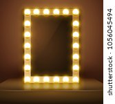 make up mirror with light.... | Shutterstock .eps vector #1056045494