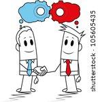 square guys brainstorm | Shutterstock .eps vector #105605435