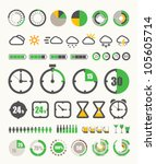 different indicators collection | Shutterstock .eps vector #105605714