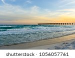 gulf coast florida sunset | Shutterstock . vector #1056057761