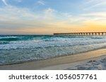 gulf coast florida sunset | Shutterstock . vector #1056057761