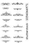 vintage vector swirl frame set   Shutterstock .eps vector #1056066971