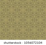 abstract geometric ornament.... | Shutterstock .eps vector #1056072104