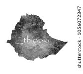 ancient map of ethiopia. old... | Shutterstock .eps vector #1056072347