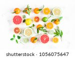 fruit background. colorful... | Shutterstock . vector #1056075647
