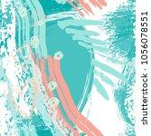 splash brush strokes watercolor ... | Shutterstock .eps vector #1056078551