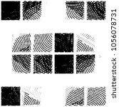 grunge halftone black and white ... | Shutterstock . vector #1056078731
