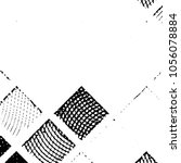 grunge halftone black and white ... | Shutterstock . vector #1056078884