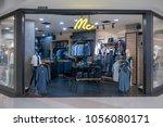 mac shop at fashion island ... | Shutterstock . vector #1056080171