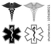 caduceus and star of life is an ... | Shutterstock . vector #105608021