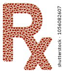 rx symbol composition of tomato.... | Shutterstock .eps vector #1056082607