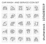 car wash and service icon set. | Shutterstock .eps vector #1056085019