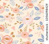 vector seamless floral pattern | Shutterstock .eps vector #1056098429