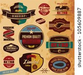 retro style labels and badges... | Shutterstock .eps vector #105609887