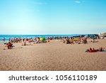 jurmala  latvia   july  2017 ... | Shutterstock . vector #1056110189