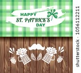 happy  patrick's day. template... | Shutterstock .eps vector #1056112211