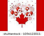 canada day design of flag and...