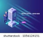 hosting services concept ...   Shutterstock .eps vector #1056124151