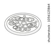 pizza isometric icon coloring... | Shutterstock .eps vector #1056125864