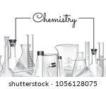 vector hand drawn banner or... | Shutterstock .eps vector #1056128075