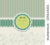 baby beautiful girl card with... | Shutterstock .eps vector #105614201