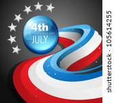 stylish vector 4th of july... | Shutterstock .eps vector #105614255