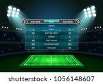 scoreboard and soccer field... | Shutterstock .eps vector #1056148607