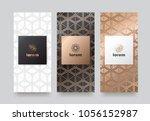 vector set packaging templates... | Shutterstock .eps vector #1056152987