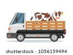 vector cartoon style farmers... | Shutterstock .eps vector #1056159494