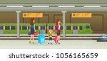 train  subway tram  underground ...   Shutterstock .eps vector #1056165659