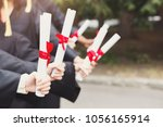 a group of multietnic students... | Shutterstock . vector #1056165914