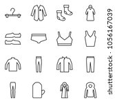flat vector icon set   hanger... | Shutterstock .eps vector #1056167039