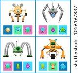 droids four vector... | Shutterstock .eps vector #1056167837