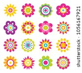 flowers blooming collection ... | Shutterstock .eps vector #1056167921