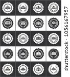 round stamps with noble crowns... | Shutterstock .eps vector #1056167957
