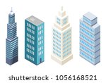 collection of multi storey... | Shutterstock .eps vector #1056168521