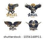 angel man. set of vector...   Shutterstock .eps vector #1056168911
