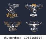 angel man. set of vector...