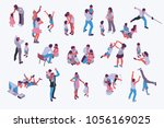 husband and wife best present... | Shutterstock .eps vector #1056169025
